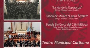 Encuentro de bandas de música en el Teatro Municipal Carthima