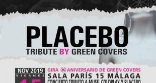 Green Covers, primer concierto en Málaga en la Sala París 15