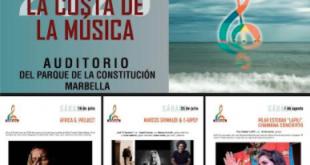 'La Costa de la Música', artistas locales en Parque de Marbella